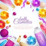 Concept de cosmétiques de Bath Images stock