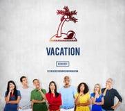 Concept de coupure de voyage de voyage de relaxation de vacances de vacances Images stock