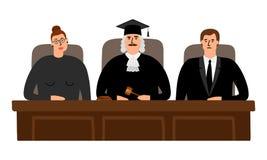 Concept de cour de juges illustration stock