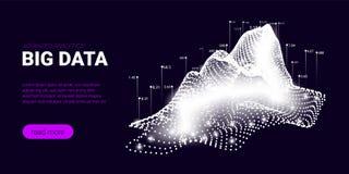 Concept de courant de Big Data, Analytics d'affaires illustration de vecteur