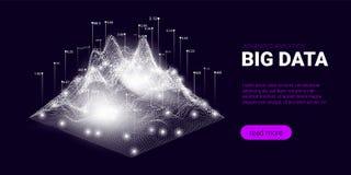 Concept de courant de Big Data, Analytics d'affaires illustration stock