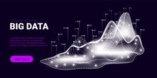 Concept de courant de Big Data, Analytics d'affaires illustration libre de droits