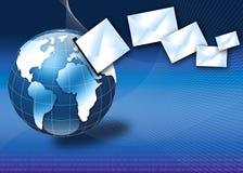Concept de courrier électronique Internet avec le globe 3d Image libre de droits