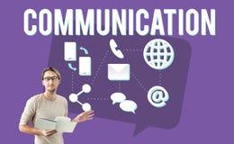 Concept de courrier de message de la parole de globe de communication Photographie stock