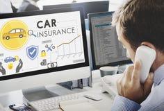 Concept de couverture de sécurité de politiques d'assurance auto Images stock