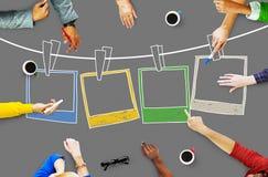 Concept de créativité d'image de cadre de photographie de photo Photographie stock