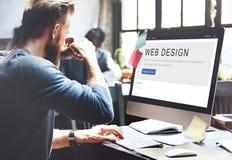 Concept de créativité de disposition de page d'accueil de conception de site Web photo libre de droits