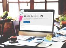 Concept de créativité de disposition de page d'accueil de conception de site Web image stock