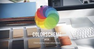 Concept de créativité de modèle de couleurs de couleur de CMYK RVB photo stock