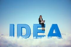 Concept de créativité et de communication photographie stock libre de droits