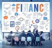 Concept de crédit d'argent de l'épargne de sciences économiques de finances Image libre de droits