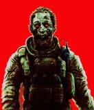 Concept de cri de soldat de zombi Illustrati effrayant de dessin de caractère illustration stock