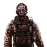 Concept de cri de soldat de zombi Illustrati effrayant de dessin de caractère illustration libre de droits