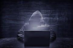 Concept de crime d'Internet images libres de droits