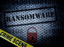 Concept de crime de Ransomware Image stock