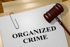 Concept de CRIMINALITÉ ORGANISÉE illustration libre de droits
