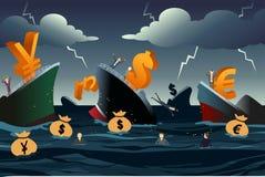 Concept de crise économique illustration stock