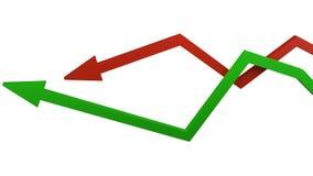 Concept de croissance économique et de récession illustration de vecteur