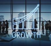 Concept de croissance d'économie de progrès de stratégie Image stock