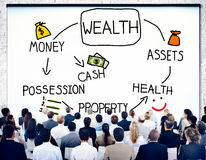 Concept de croissance d'investissement de possession d'argent de richesse Photo stock