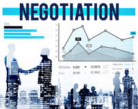 Concept de croissance de contrat de compromis d'avantage de négociation images libres de droits