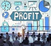 Concept de croissance de données d'analyse de statistiques commerciales Image libre de droits