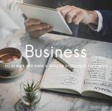 Concept de croissance de l'entreprise Commerciale d'Business Company Photo libre de droits