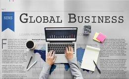 Concept de croissance de mise en réseau d'importation d'exportation d'affaires globales photo stock