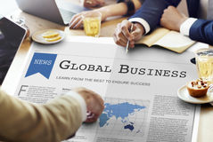 Concept de croissance de mise en réseau d'importation d'exportation d'affaires globales photographie stock