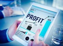 Concept de croissance de revenu financier d'avantage de bénéfice photo libre de droits
