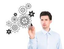 Concept de croquis de processus d'affaires