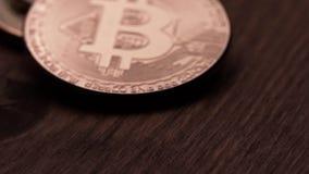 Concept de crypto devise et de Bitcoins clips vidéos