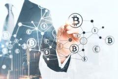 Concept de cryptographie et de finances photos stock
