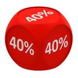 Concept 40% de cube en remise Image libre de droits