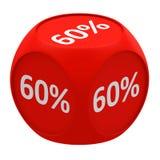 Concept 60% de cube en remise Photo stock