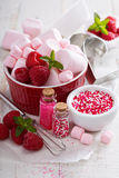 Concept de cuisson de jour de valentines Photos libres de droits