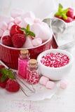 Concept de cuisson de jour de valentines Image stock