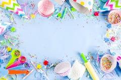 Concept de cuisson doux pour la f?te de vacances d'anniversaire image stock
