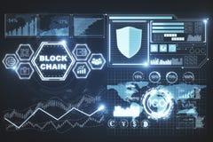 Concept de cyberespace et de blockchain Photographie stock
