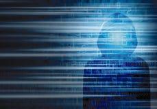 Concept de Cybersecurity d'ordinateur de pirate informatique Photos libres de droits