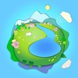 Concept de cycle de vie en nature, scène de paysage dans le differe quatre illustration stock