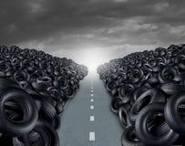 Concept de décharge de pneu Photographie stock