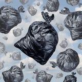 Concept de déchets illustration stock