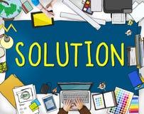 Concept de décision de stratégie de progrès d'innovation de solution Illustration Libre de Droits