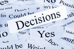 Concept de décisions Images libres de droits