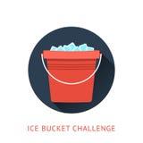 Concept de défi de seau à glace de SAL Photo stock