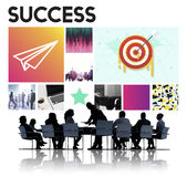 Concept de démarrage de marque de succès de lancement de cible de buts Photos stock