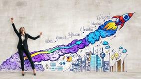 Concept de démarrage et d'esprit d'entreprise illustration de vecteur
