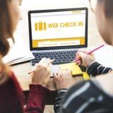 Concept de déplacement de contrôle de Web en vol Image stock