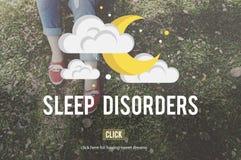 Concept de dépression d'insomnie perturbé par trouble du sommeil photographie stock